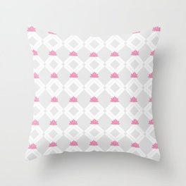 Lotusflowerdiamond Throw Pillow