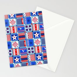 4th July Patchwork Stationery Cards