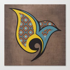Persian Bird Canvas Print