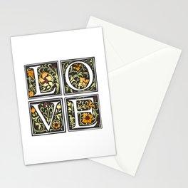 Elegant Valentine's Day Floral Love Typography Stationery Cards