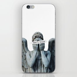Weeping angel iPhone Skin