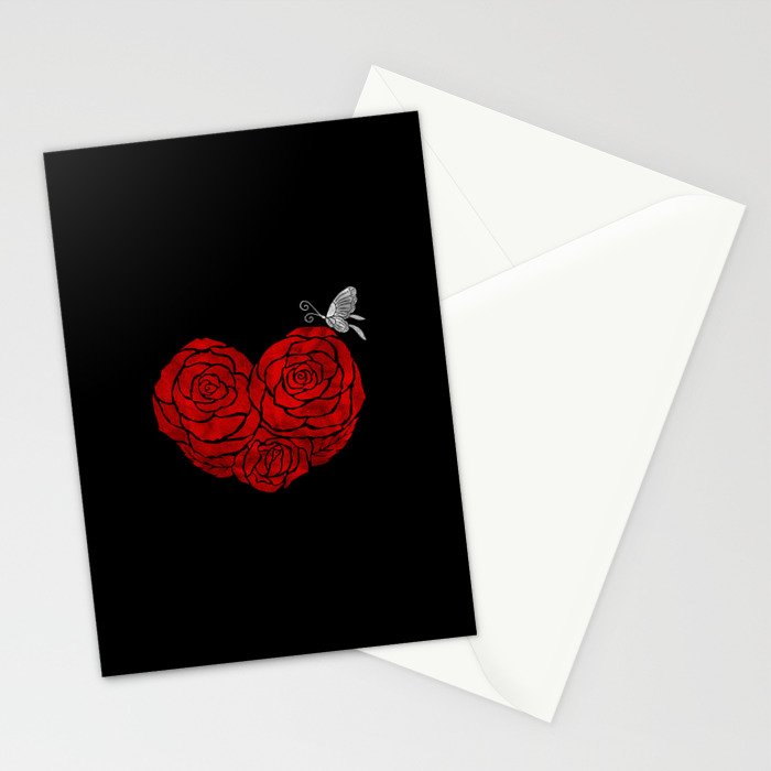 A Butterfly to be, a Rose to blossom... Stationery Cards