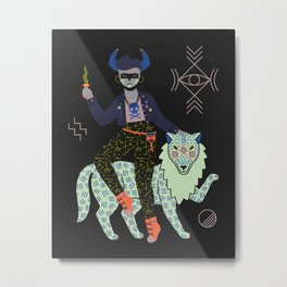 Witch Series: Demon Metal Print