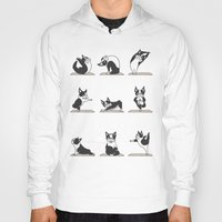 Hoodies featuring Boston Terriers Yoga by Huebucket