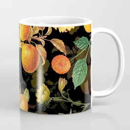 Vintage & Shabby Chic - Midnight Golden Apples Garden Coffee Mug