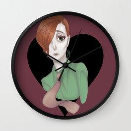 BLACK HEARTS CLUB Wall Clock