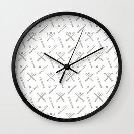 Baseball sport pattern Wall Clock