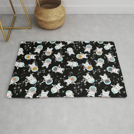 Astronaut Space Cats With Constellations Rug