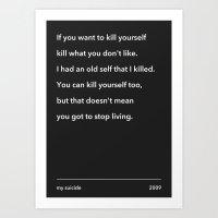 My Suicide. Art Print
