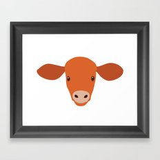 Cow-mor orange Framed Art Print