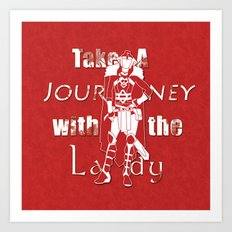 Take A Journey With The Lady Art Print
