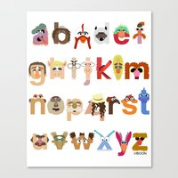 The Great Muppet Alphabet (the sequel) Canvas Print