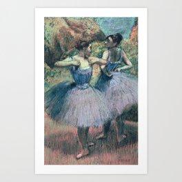 Edgar Degas - Dancers In Violet Art Print