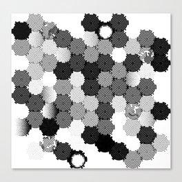 Binary Organic Canvas Print