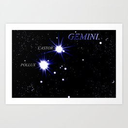 GEMINI. Art Print
