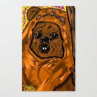 ewok Canvas Prints featuring Ewok by Art of Fernie