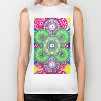 psychedelic Biker Tanks featuring psychedelic  by Thedevilguru