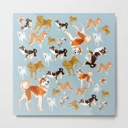 Japanese dogs Metal Print