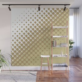 Chocolate brown and tan colour halftone pattern Wall Mural