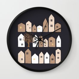 The Christmas City Wall Clock