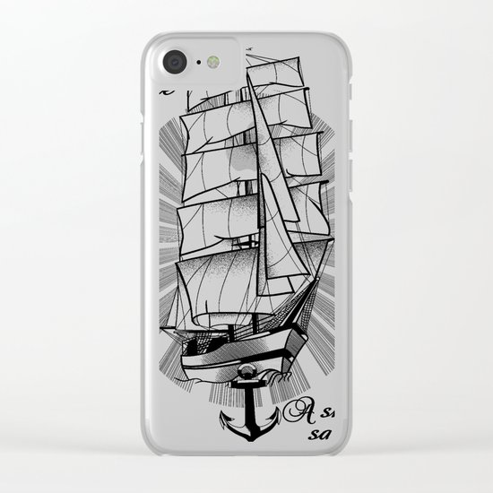 A smooth sea never made a skilled sailor Clear iPhone Case