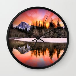 Romanticism Landscape Wall Clock