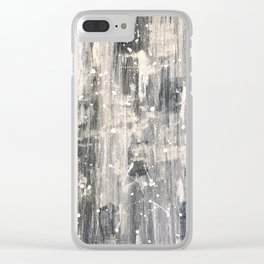 City in Snow Clear iPhone Case
