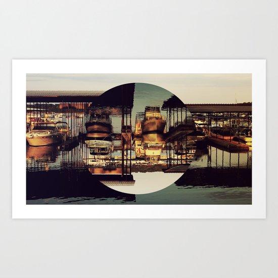 MARINA, INVERTED CIRCLE. Art Print