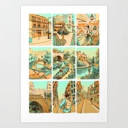 Wander through London Art Print