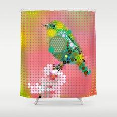 Green bird Shower Curtain