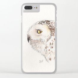 Snowy Owl Clear iPhone Case