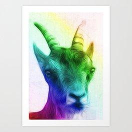 Rainbow Goat Art Print