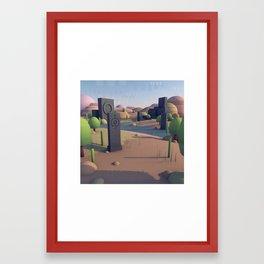 Totem Landscape Framed Art Print