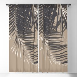 Palm Leaves Sepia Vibes #2 #tropical #decor #art #society6 Blackout Curtain