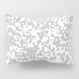 Small Spots - White and Silver Gray Pillow Sham