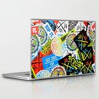 sticker Laptop & iPad Skins featuring Sticker Collage by Chris Klemens