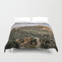 Balanced Rock Valley View in Big Bend - Landscape Photography Duvet Cover
