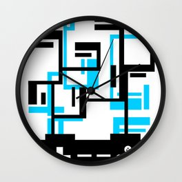8-BIT JOYSTICK (BLUE AND BLACK) Wall Clock