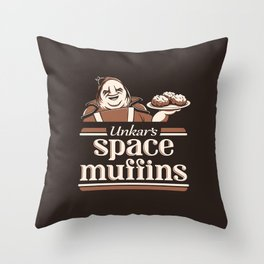 Space Muffins Throw Pillow