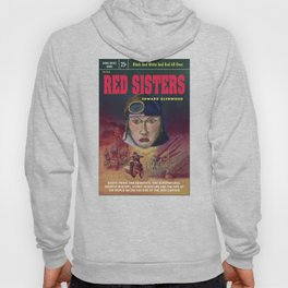 """""""Red Sisters"""" Book Cover Hoody"""