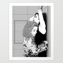 Orphan Black - Sarah/Helena S2 Shower Scene (Original Artwork Print) Art Print