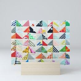 Flying Geese Quilt Pattern Mini Art Print