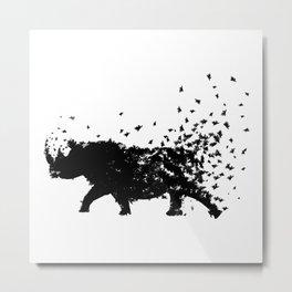 Save the Rhinos fading away Metal Print