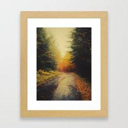 Grove in autumn Framed Art Print