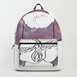 Purple Berry Jam Jar Digital Design Backpack