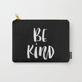 Be Kind black and white watercolor modern typography minimalism home room wall decor Carry-All Pouch
