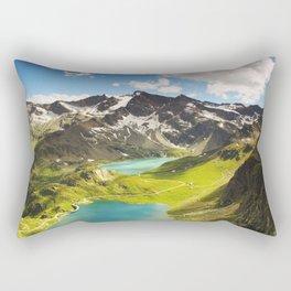 Alps aerial view Rectangular Pillow