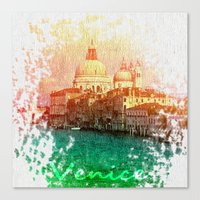 venice Canvas Prints featuring Venice by GingerRogers