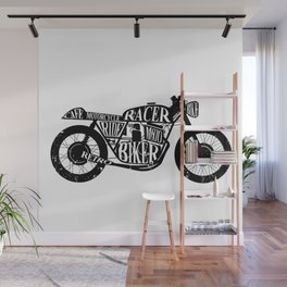 Cafe racer motorcycle Wall Mural
