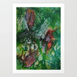 abstract jungle flowers Art Print
